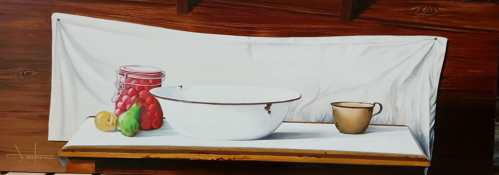 BODEGÓN 70x25 Óleo sobre tablero de madera
