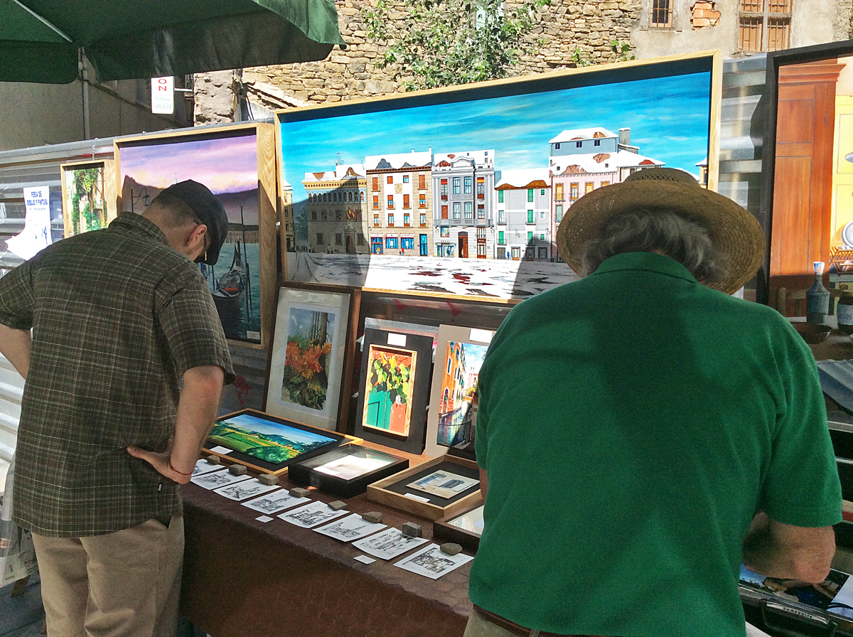 Un año más, participamos en las ferias de Dibujo y Pintura de Jaca.